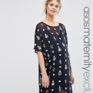 Asos maternity embellished dress.